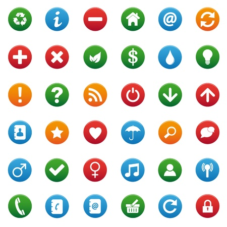 address book: Miscellaneous icons set