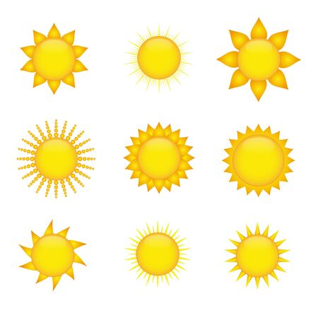 Sun icons Stock Vector - 9543351