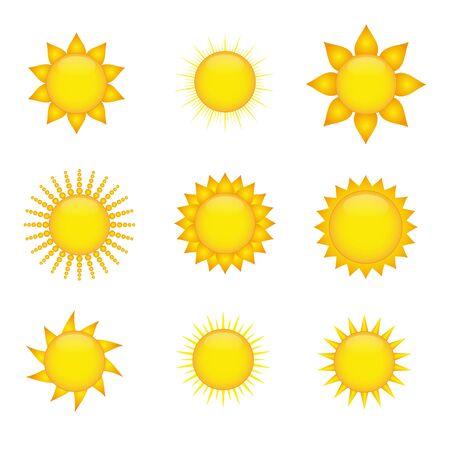 brandweer cartoon: Zon pictogrammen