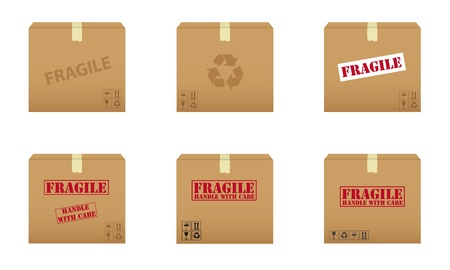 ship package: Collection of cardboard boxes
