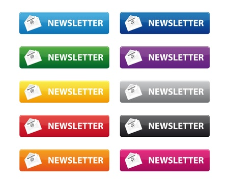 Newsletter buttons Vector