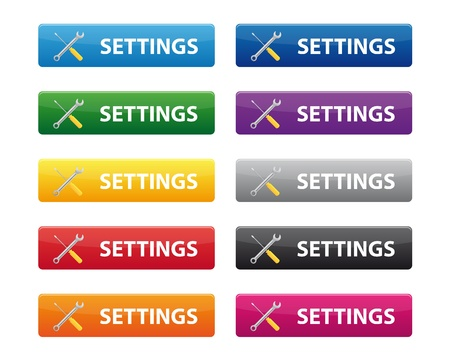 Settings buttons Stock Vector - 9591528