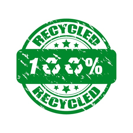 100% recycled rubber stamp Stock Vector - 9591532