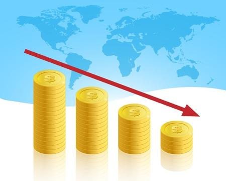 stock predictions: Crisi aziendali Vettoriali