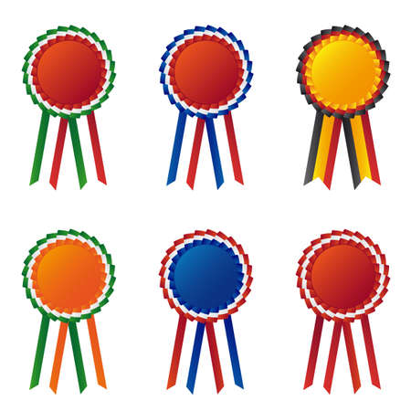 Collection of flag ribbon Vector