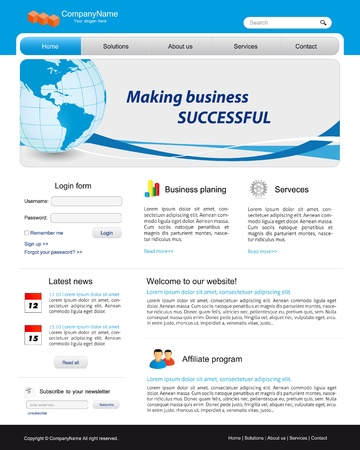 illustrated globe: Business website template