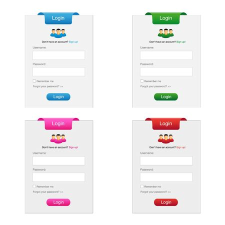 Collection of login form Stock Vector - 9680364
