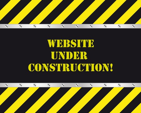 building construction site: Website under construction page