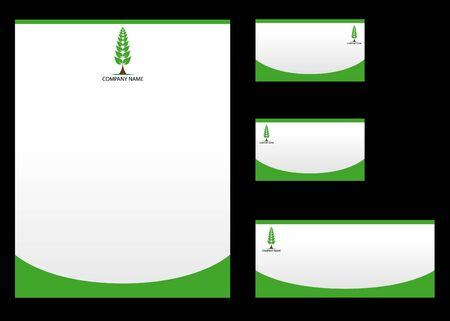 Nature corporate Identity template Vector