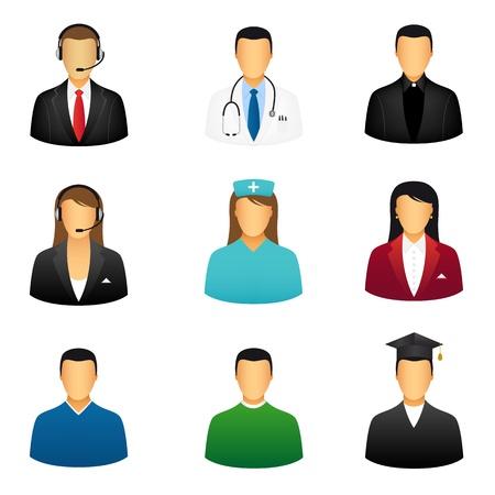 avatars: Icone di persone Vettoriali