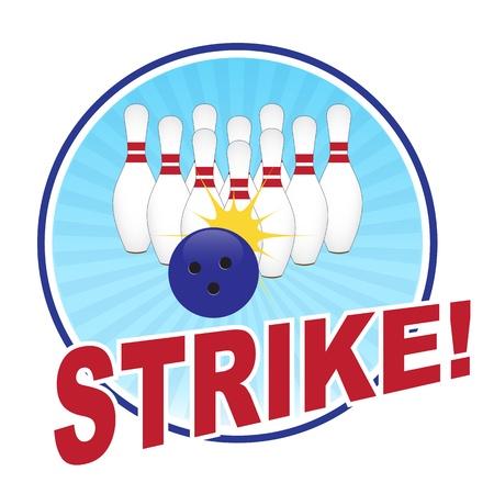Bowling illustration Vector