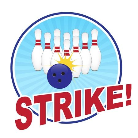 strike: Bowling illustration