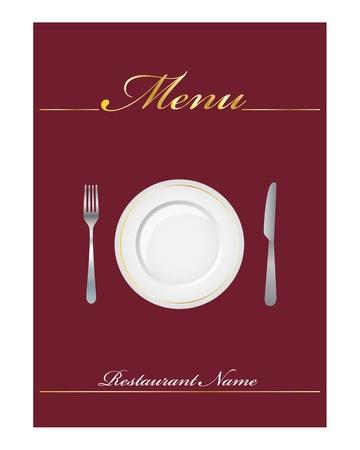 レストランのエレガントなメニュー