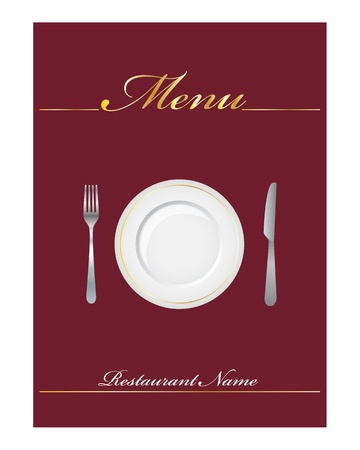 paper plates: Elegant menu for restaurant