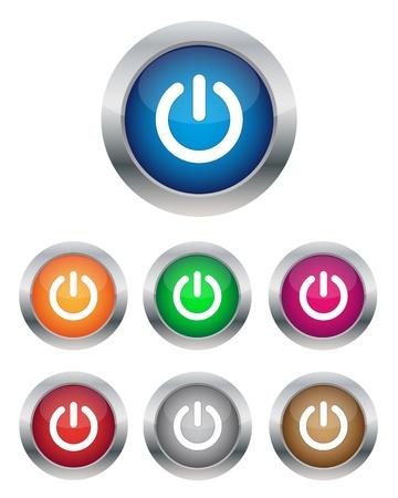 電源ボタン  イラスト・ベクター素材