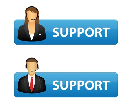 クライアント: ボタンをサポートします。  イラスト・ベクター素材