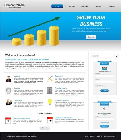 ビジネス web サイトのテンプレート