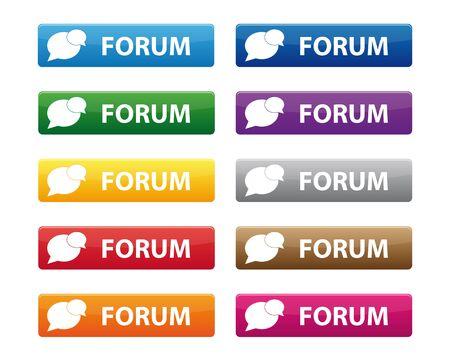 フォーラムのボタン  イラスト・ベクター素材