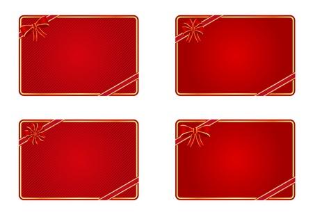 空白のギフトカードのコレクション