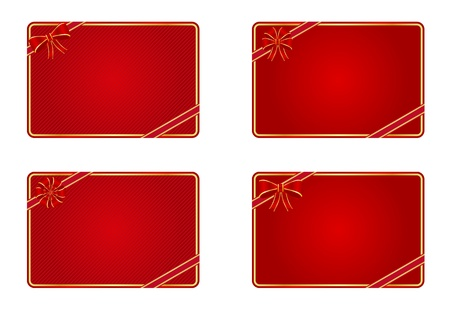 Collection of blank gift cards Vector