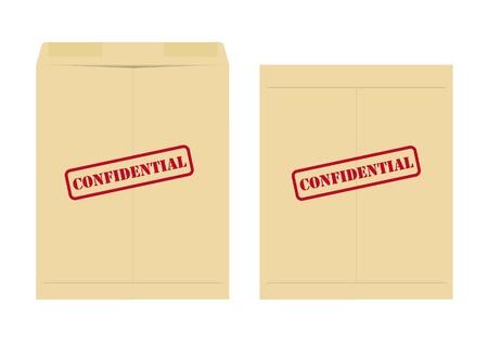 Confidential envelope Vector