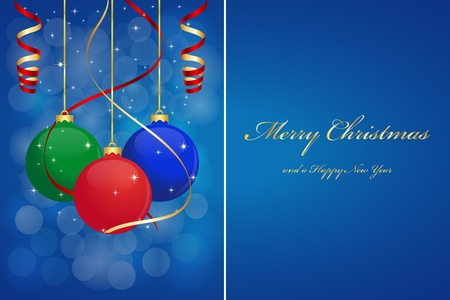Christmas background with hanging balls Vector