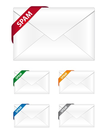 Spam newsletter icons Stock Vector - 10516693