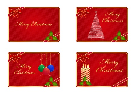 Christmas greeting cards Stock Vector - 10849296