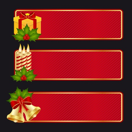 Banner collection to celebrate Christmas and new year Vector