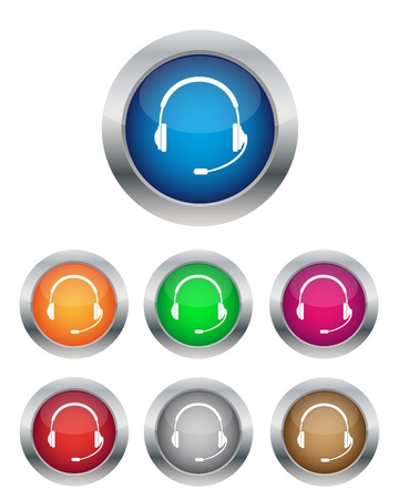 phone operator: Call center buttons