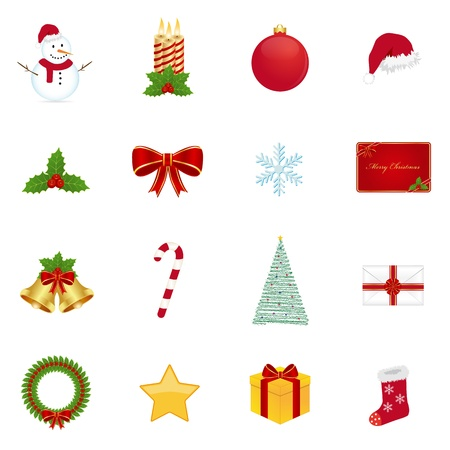 Christmas icons Stock Vector - 10958645