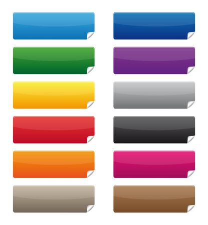 adhesive note: Collection of colorful labels