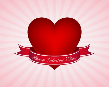 Valentine's day card Stock Vector - 11497373