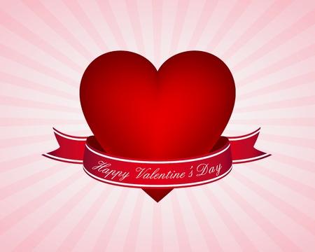 burst background: Valentines day card Illustration
