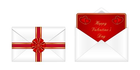 Envelope with a valentine Vector