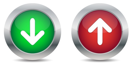 Download and upload buttons Illustration