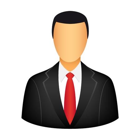 tutor: Hombre de negocios icono Vectores