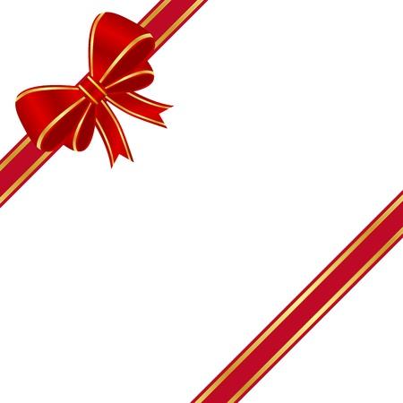 白い背景で隔離赤い弓