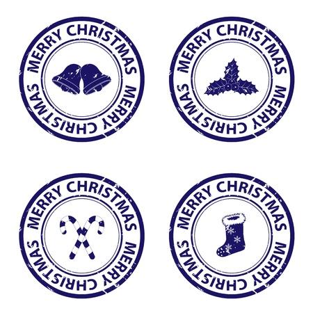 ブルー クリスマス切手