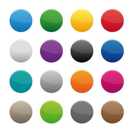 空白の丸いボタン