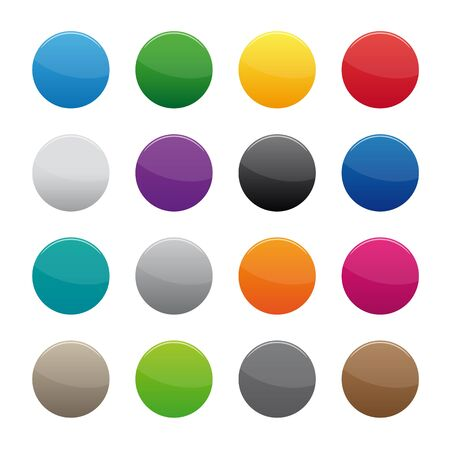 discount buttons: Blank round buttons Illustration