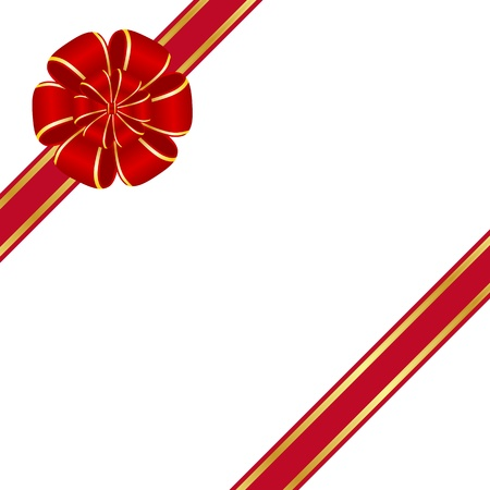 Red rosette bow Vector