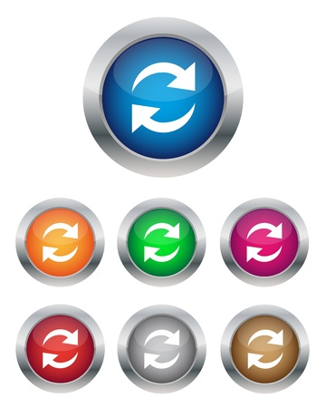 Refresh buttons Stock Vector - 11656831