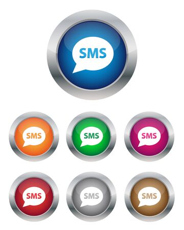 SMS buttons Vector