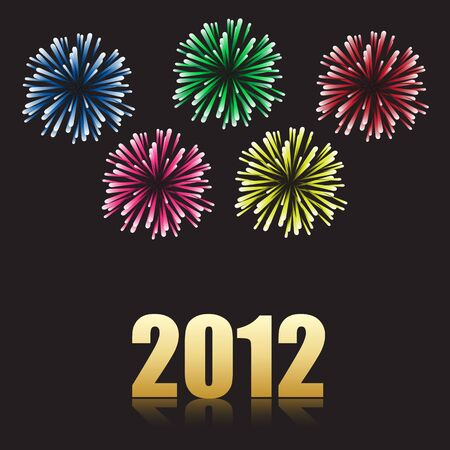 2012 new year celebration Vector