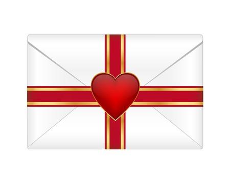 Valentine envelope Vector