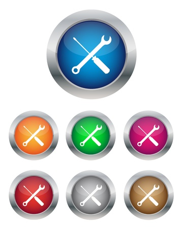 Settings buttons Stock Vector - 11656838