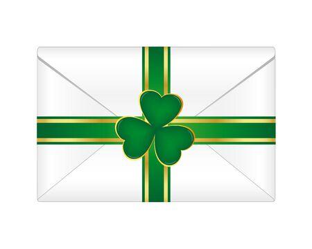 St. Patrick envelope Vector