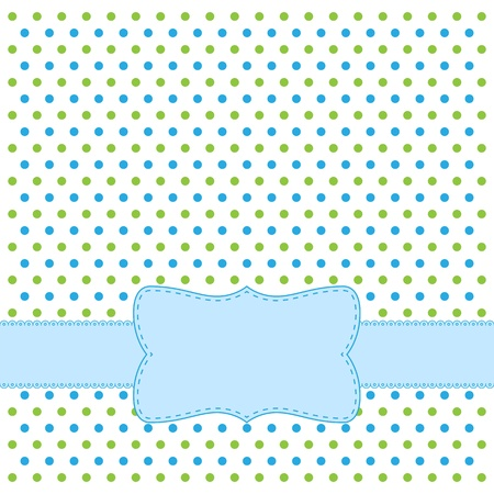 polka dots: Polka dot design frame for invitation