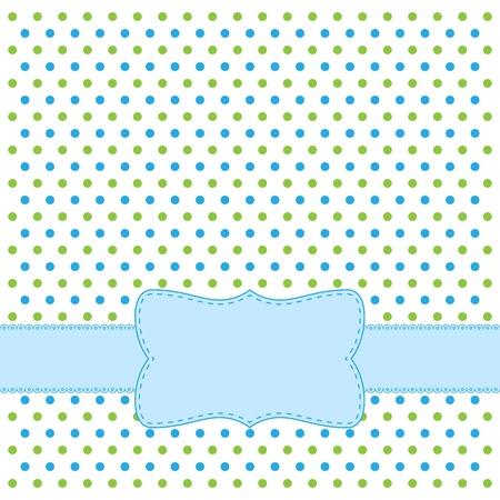Polka dot design frame for invitation